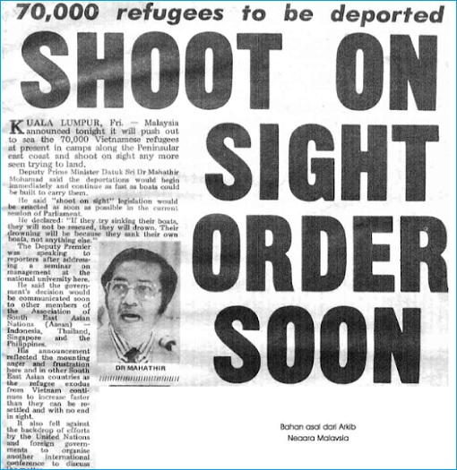 Vietnam War - Vietnamese Boat People - Mahathir Shoot On Sight