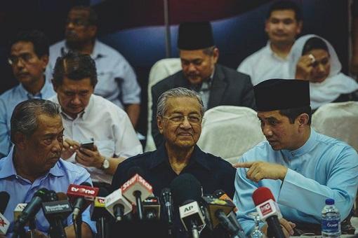 Muhyiddin Yassin, Mahathir Mohamad and Azmin Ali
