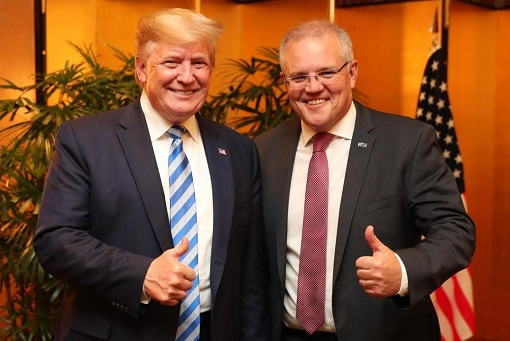 US President Donald Trump and Australia Prime Minister Scott Morrison