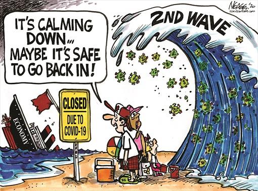 Coronavirus - Covid-19 Second Wave - Cartoon