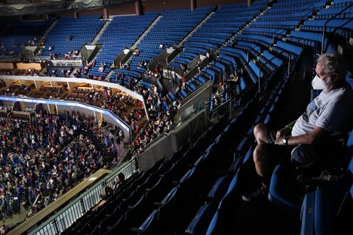 Donald Trump Rally - Empty Seats at Bank of Oklahoma Arena