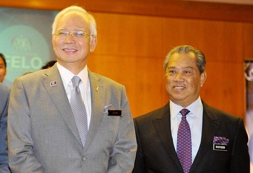 Najib Razak and Muhyiddin Yassin