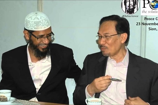 Zakir Naik and Anwar Ibrahim