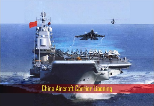 China Aircraft Carrier Liaoning - Front View