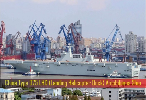 China Type 075 LHD Landing Helicopter Dock Amphibious Ship
