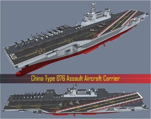 China Type 076 Assault Aircraft Carrier
