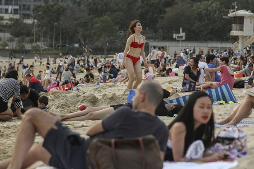 Coronavirus - Hong Kong Covid-19 - Beach