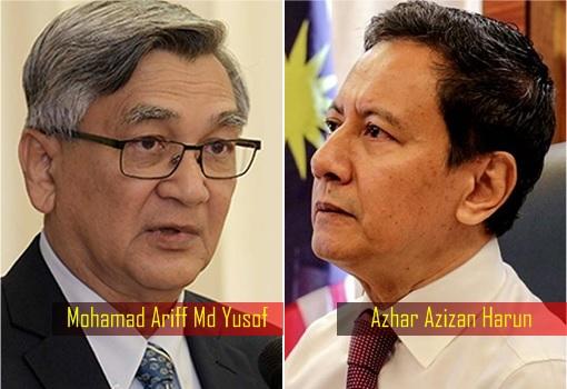 House Speaker - Mohamad Ariff Md Yusof and Azhar Azizan Harun