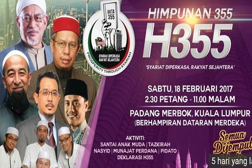 Hudud Law - Mega Rally - Himpunan 355 Padang Merbok 2017