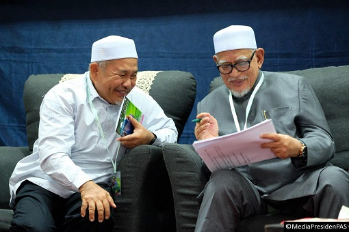 PAS Leaders - Hadi Awang and Tuan Ibrahim