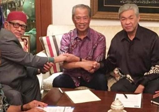 Perikatan Nasional - Hadi Awang, Muhyiddin Yassin and Zahid Hamidi