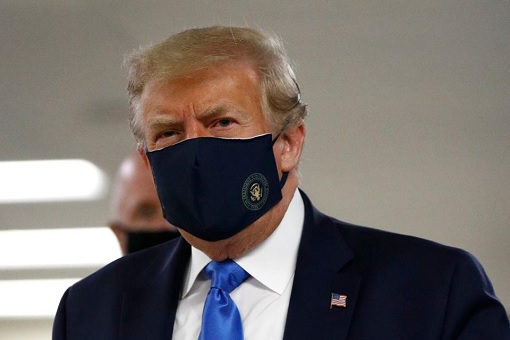 President Donald Trump Wears Face Mask