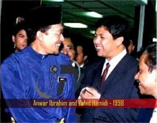 Anwar Ibrahim and Zahid Hamidi - 1998