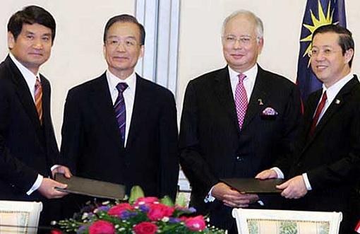 Penang Undersea Tunnel Project - MOU Signing - PM Najib Razak and China Premier Wen Jiabao