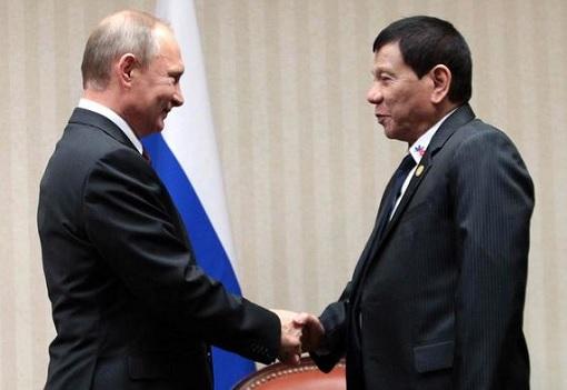 Russian President Vladimir Putin and Philippines President Duterte