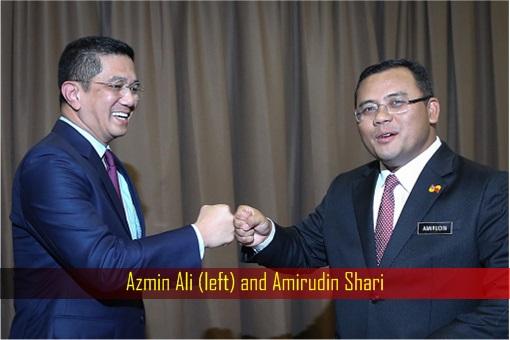 Azmin Ali and Amirudin Shari