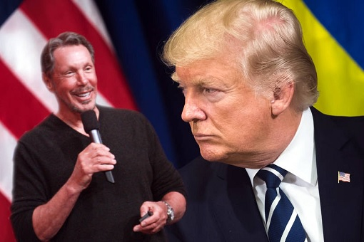Oracle Larry Ellison Political Supporter of Donald Trump
