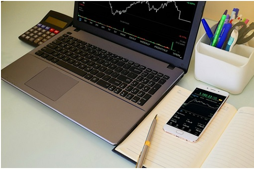 Stock Trading - Laptop