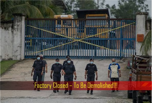 Water Pollution - Factory Closed – To Be Demolished