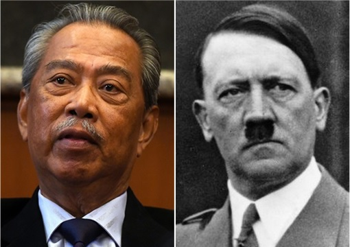 Dictators - Muhyiddin Yassin and Adolf Hitler