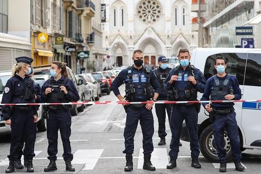 France Terrorist Attack - Police Guarding Church