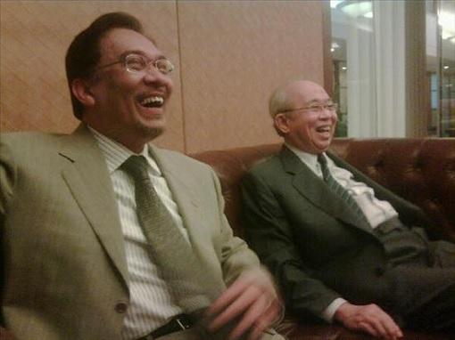 Anwar Ibrahim and Tengku Razaleigh - Laughing
