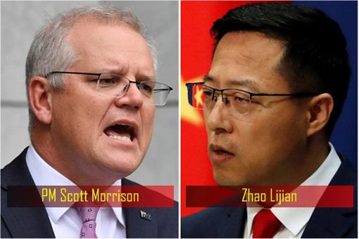 Australia Prime Minister Scott Morrison - China Foreign Ministry Spokesman Zhao Lijian