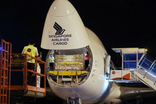 Coronavirus - Singapore Airlines Cargo First Shipment Of Pfizer Covid-19 Vaccine