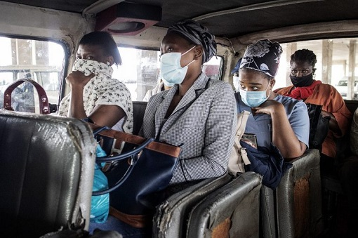 Coronavirus - South Africa People Wearing Mask