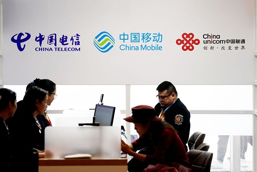 China Mobile, China Telecom and China Unicom