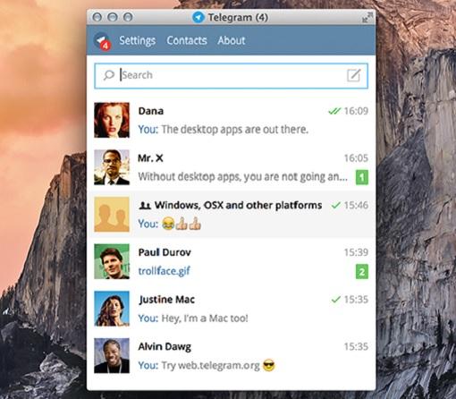 Telegram Desktop View