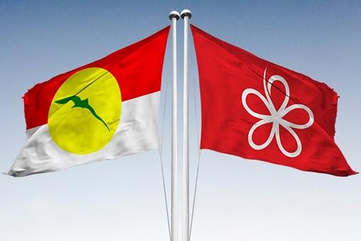 UMNO and Bersatu PPBM Flags