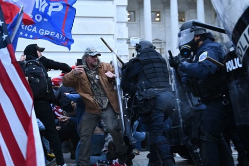 US Capitol Riot Photo - Police Clash with Trump Supporters