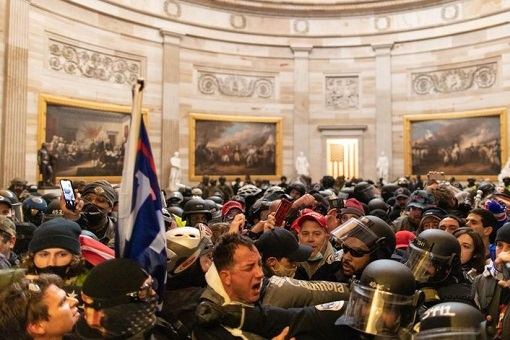 US Capitol Riot Photo - Police Easily Outnumbered