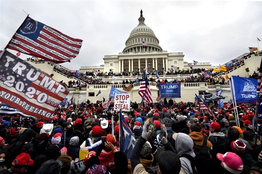 US Capitol Riot Photo - Trump Supporters Outside the US Capitol