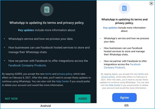 WhatsApp Privacy Notice - Android and iOS - Effective 8 Feb 2021