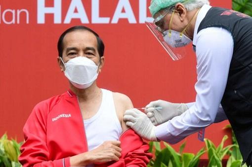 Coronavirus - Indonesia President Joko Jokowi Widodo Received Chinese-Sinovac Covid-19 Vaccine