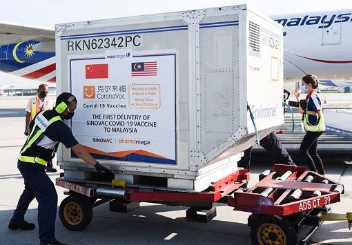 Coronavirus - Malaysia Received First Delivery of China Sinovac Covid-19 Vaccine