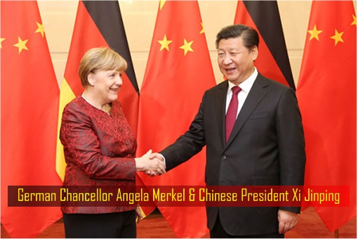 German Chancellor Angela Merkel and Chinese President Xi Jinping
