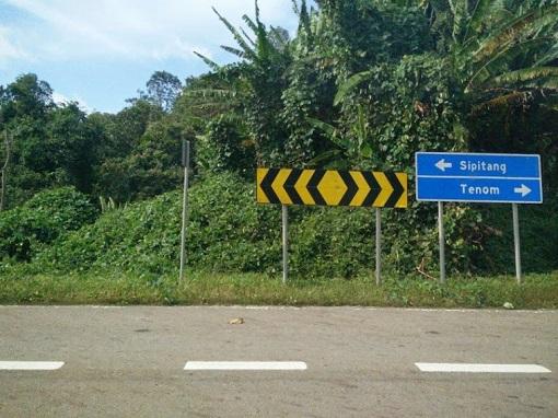 Tenom Sabah Road Sign