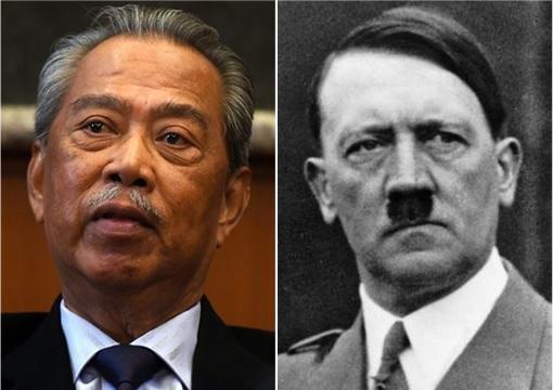 Dictators - Malaysian Muhyiddin Yassin and Germany Adolf Hitler