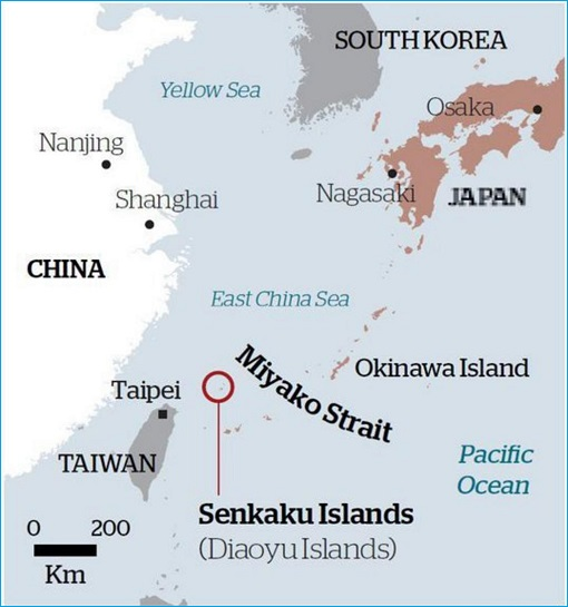 Conflict - China-Taiwan-Japan - Map