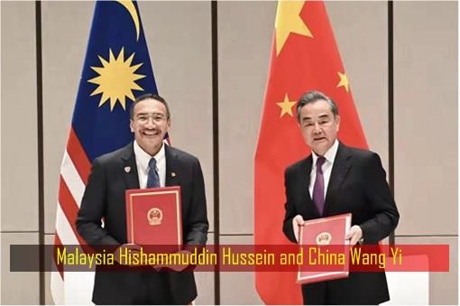 Malaysia Hishammuddin Hussein and China Wang Yi