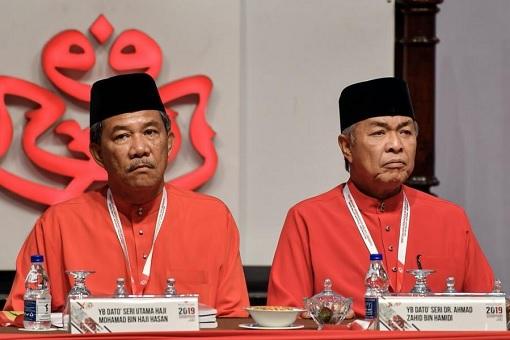 UMNO Deputy President Mohamad Hasan and UMNO President Zahid Hamidi