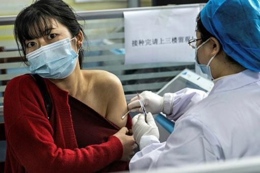 Coronavirus - China Vaccination - People Getting Covid-19 Injection