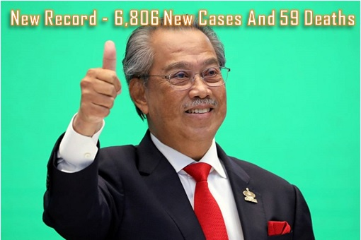 Coronavirus - PM Muhyiddin Yassin - Thumbs Up - New Record 6806 New Cases And 59 Deaths