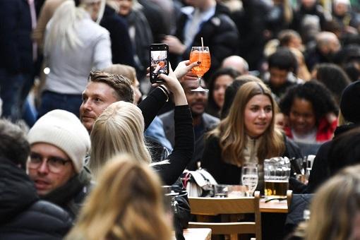 Coronavirus - UK Covid-19 Lockdown To Be Lifted - People Rejoice With Beer