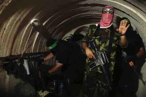 Israel-Hamas-Palestine Conflict War - Terrorist Underground Tunnel