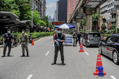 MCO 3 Lockdown - Police Roadblock