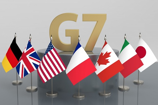 Group of Seven - G-7 Mini Flags